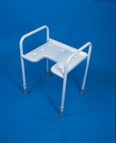 Height Adjustable Shower Stool with Front Gap