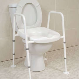 Mowbray Toilet Seat & Frame Floor Fixed