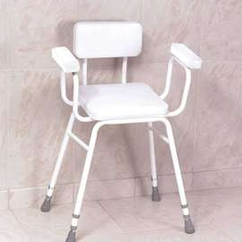 Malvern Vinyl Seat Perching Stool, Extra Low