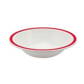 Red Rimmed Bowl