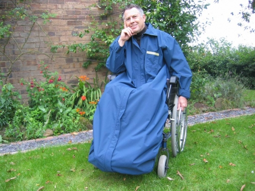 Warwick Wheelchair Mac with sleeves