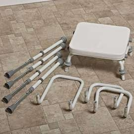 Compact Easy Modular Perching Stool With Arms
