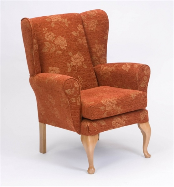 Traditional High Seat Chair Queen Anne