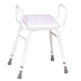 Malvern Vinyl Seat Perching Stool (with Arms)