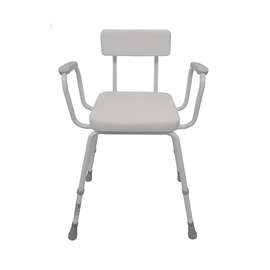 Malvern Vinyl Seat Perching Stool - Padded Arms + Padded Back