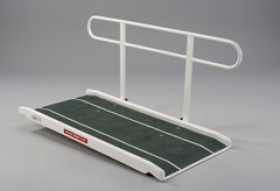 Portable Glass Fibre Access Ramp With Single Handrail