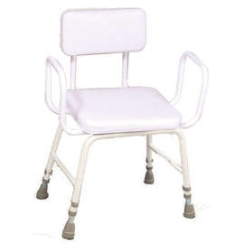 Malvern Vinyl Seat Perching Stool Extra Low: (Arms + Back)