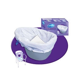 Disposable Care Bag Commode Liners - Pack of 20