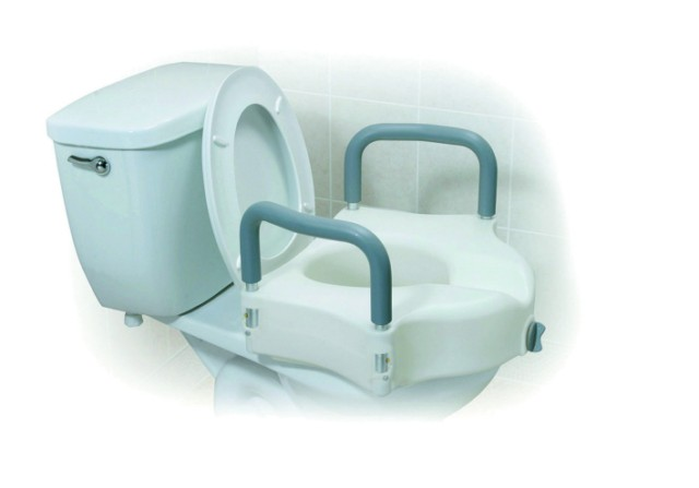 2 in 1 Locking Elevating Toilet Seat