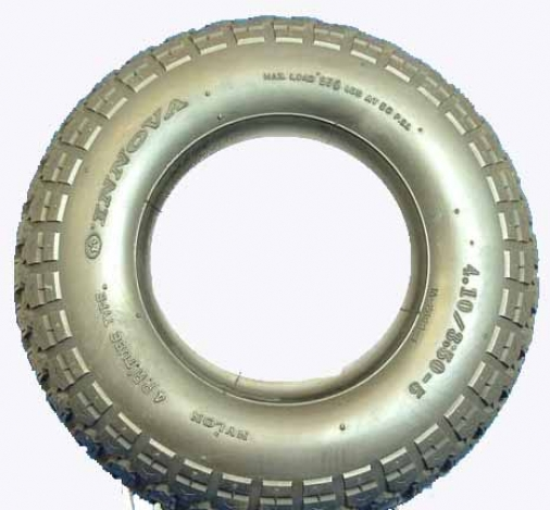 410/350 x 5 C/S Black Block Tyre