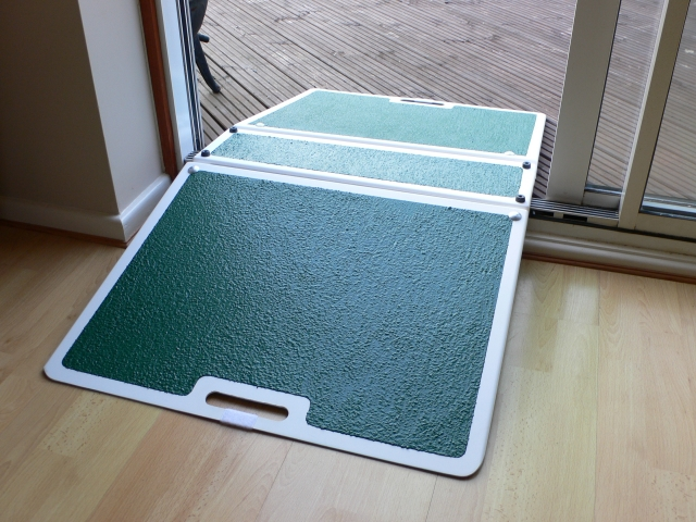 Glass Fibre Folding Threshold Ramp