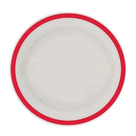 Red Rimmed Plate