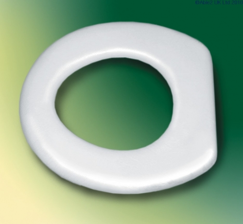 Padded Toilet Seat with Rim and Vinyl Cover