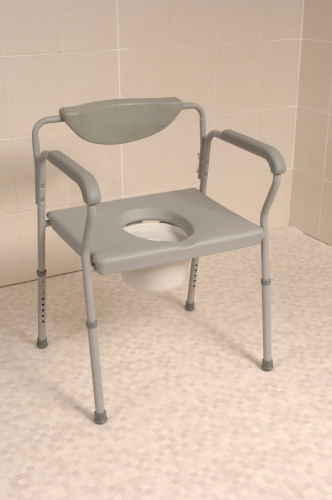 Economy Height Adjustable Extra Wide Commode