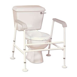 Nuvo Extra Wide Floor Fixed Toilet Frame
