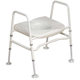 Mowbray Toilet Seat & Frame Floor Fixed - Extra Wide