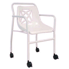 Fixed Height Economy Mobile Shower Chair