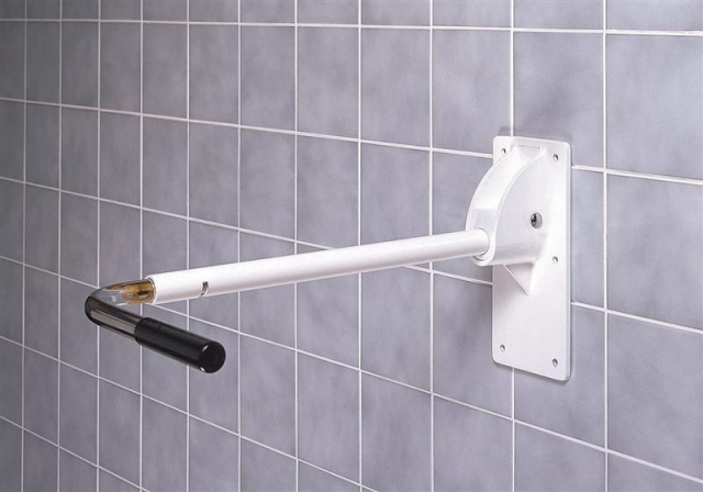 Adjustable Gated Foldaway Support Rail