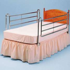 Extra High Chrome Bed Rails - Pair