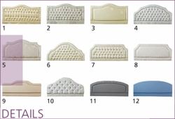 HeadBoard Options for the Yorkshire range Adjustable Beds