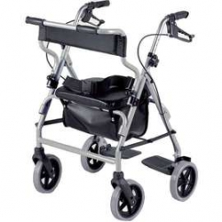 2 In 1 Rollator & Transit Chair