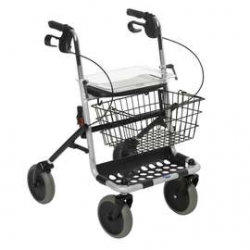 Banjo Four Wheeled Rollator With Tray & Basket